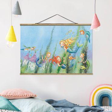 Foto su tessuto da parete con bastone - Matilda La principessa sirena - Orizzontale 2:3