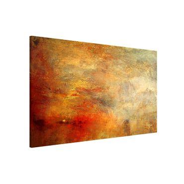 Lavagna magnetica - Joseph Mallord William Turner - Tramonto sul lago - Formato orizzontale 3:2
