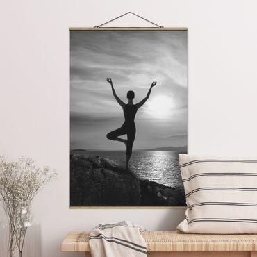 Foto su tessuto da parete con bastone - Yoga nero - Verticale 3:2