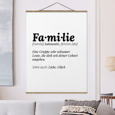 Foto su tessuto da parete con bastone - La definizione di famiglia - Verticale 4:3