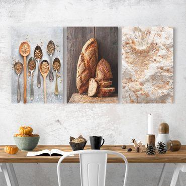Stampa su tela 3 parti - baking bread - Verticale 3:2