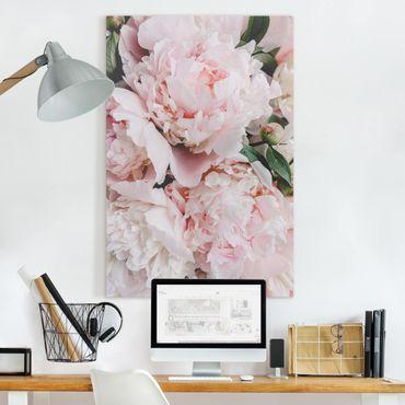 Quadri su tela - Rosa peonia chiaro