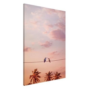 Lavagna magnetica - Tramonto Con Hummingbird - Formato verticale 2:3
