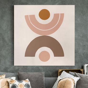 Quadri su tela - Line Art Astratta pastello Forme