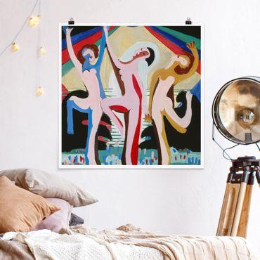 Poster - Ernst Ludwig Kirchner - Farbentanz - Quadrato 1:1