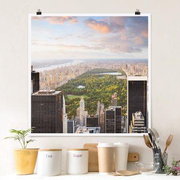 Poster - Affaccia su Central Park - Quadrato 1:1