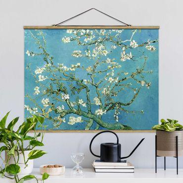 Foto su tessuto da parete con bastone - Vincent Van Gogh - Mandorlo in Fiore - Orizzontale 3:4