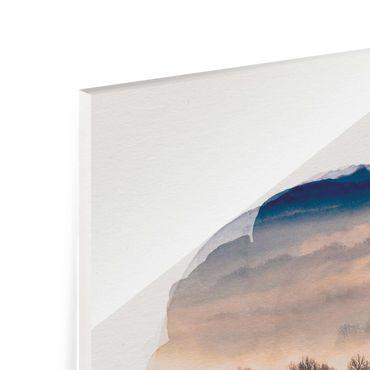 Quadro in vetro - Acquerelli - Mist Al Tramonto - Verticale 4:3