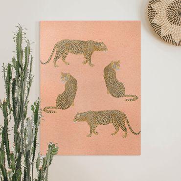 Quadri su tela - Illustrazione Leopard Rosa Pittura