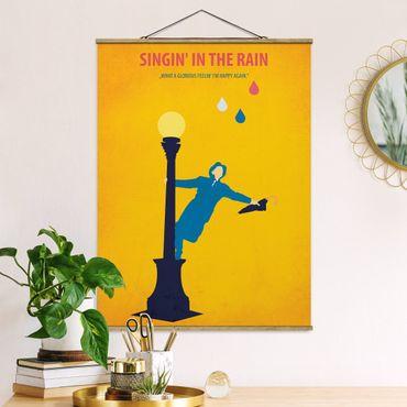 Foto su tessuto da parete con bastone - Poster di film Cantando sotto la pioggia - Verticale 4:3