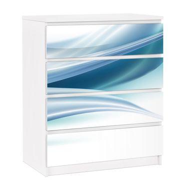 Carta adesiva per mobili IKEA - Malm Cassettiera 4xCassetti - Blue Dust