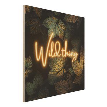 Stampa su legno - Wild Thing Golden Leaves - Quadrato 1:1