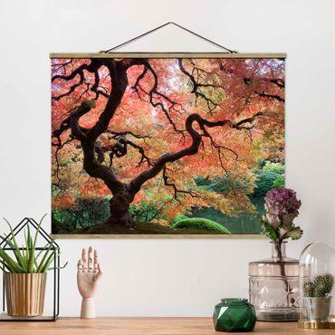 Foto su tessuto da parete con bastone - Giardino Giapponese - Orizzontale 3:4