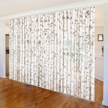 Tende scorrevoli set - No.YK15 Birch Wall