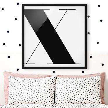 Poster con cornice - Antiqua Letter X - Quadrato 1:1