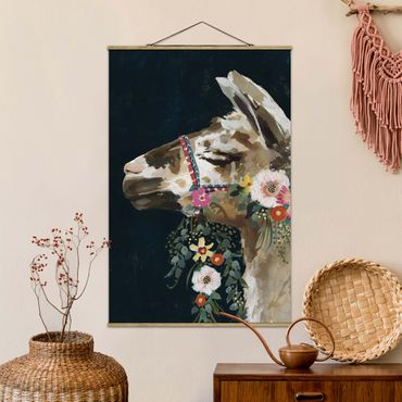 Foto su tessuto da parete con bastone - Lama Con Decorazione Floreale II - Verticale 3:2