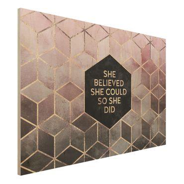 Stampa su legno - Ha creduto che potesse in oro rosa - Orizzontale 2:3