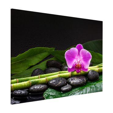 Lavagna magnetica - Green Bamboo Con L'orchidea Blossom - Formato orizzontale 3:4