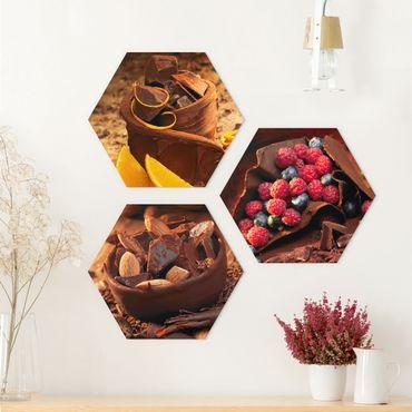 Esagono in forex - Cioccolato con frutta e mandorle