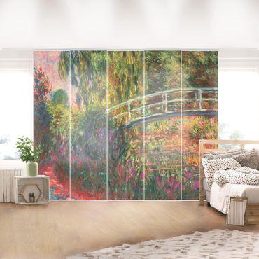 Tende scorrevoli set - Claude Monet - Ponte giapponese di Giverny - 5 Pannelli
