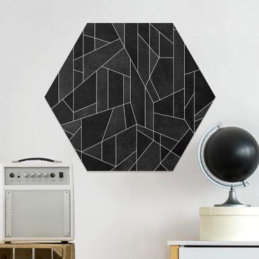 Esagono in forex - Bianco e nero geometrico Acquarello