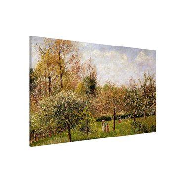 Lavagna magnetica - Camille Pissarro - Primavera in Eragny - Formato orizzontale 3:2