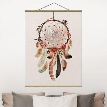 Foto su tessuto da parete con bastone - Dreamcatcher con perline - Verticale 4:3