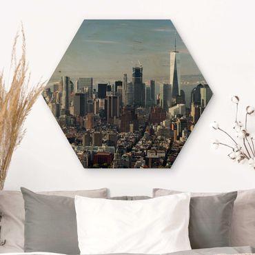 Esagono in legno - Vista da Empire State Building