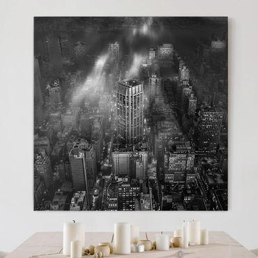 Stampa su tela - Luce del sole su New York - Quadrato 1:1