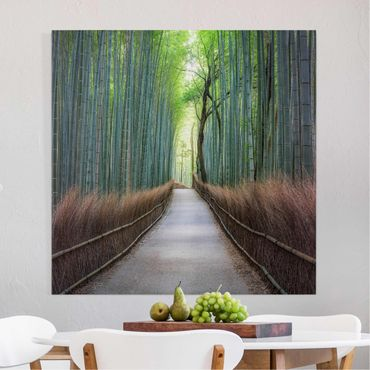 Stampa su tela - Sentiero tra i bambù