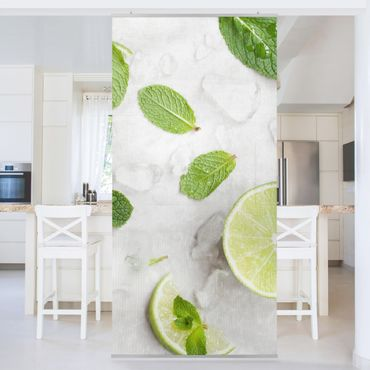 Tenda a pannello - Lime Mint On Ice - 250x120cm