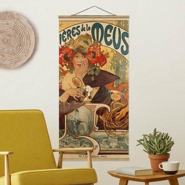 Foto su tessuto da parete con bastone - Alfons Mucha - Poster For La Meuse Beer - Verticale 2:1
