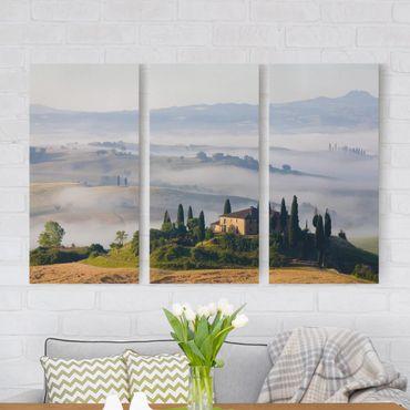 Stampa su tela 3 parti - Estate In Tuscany - Verticale 2:1