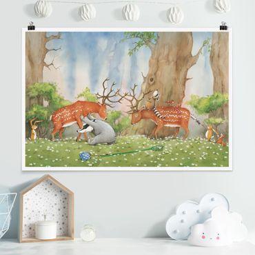 Poster - Procione Wassili - Wassili aiuta il cervo
