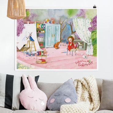 Poster - Strawberry Coniglio Erdbeerfee - Bastelstunde - Orizzontale 3:4