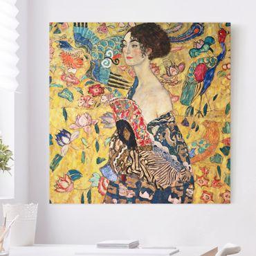 Quadri su tela - Gustav Klimt - Donna con ventaglio