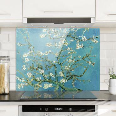 Spritzschutz Glas - Vincent van Gogh - Mandelblüte - Querformat 3:4