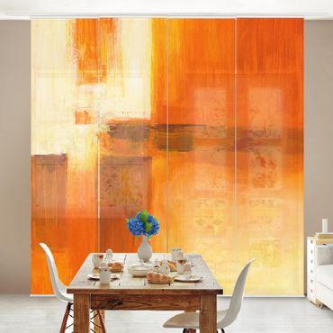 Tende scorrevoli set - Petra Schüßler - Composition In Orange And Brown 01