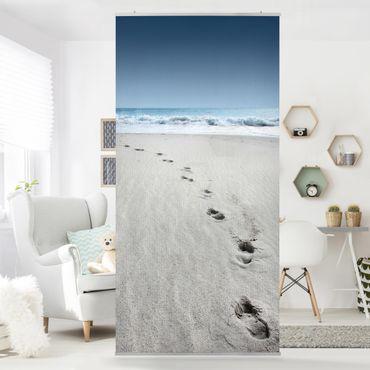 Tenda a pannello footprints in the sand 250x120cm