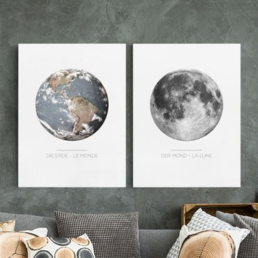 Stampa su tela - Moon And Earth - Verticale 4:3