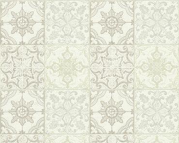 Carta da parati - A.S. Création Simply Decor in Beige Crema Bianco