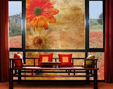 XXL Pellicola per vetri - Vintage Flowermix