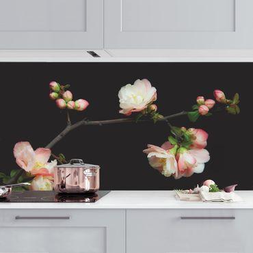 Rivestimento cucina - Ramo di melo in fiore