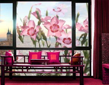 XXL Pellicola per vetri - Pink Flowers