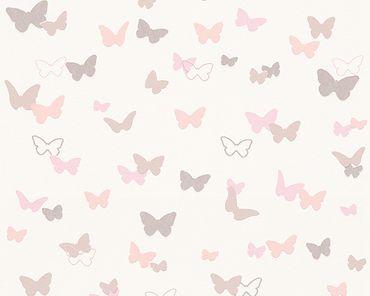 Carta da parati - Esprit Esprit Kids 5 Sweet Butterfly in Beige Rosa Bianco