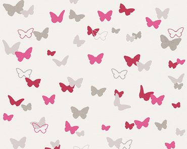 Carta da parati - Esprit Esprit Kids 5 Sweet Butterfly in Grigio Rosa Bianco