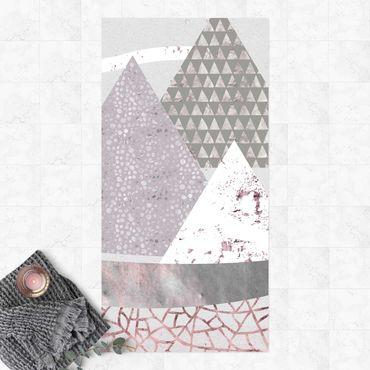 Tappeti in vinile - Montagne astratte in pastello - Verticale 1:2