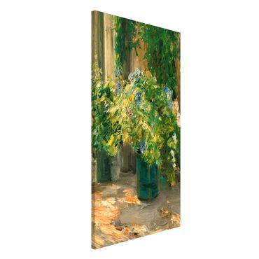 Lavagna magnetica - Max Liebermann - Vaso da fiori in davanti alla casa - Formato verticale 4:3