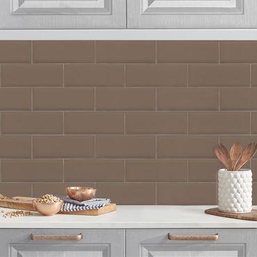 Rivestimento cucina - Mattonelle in ceramica grigio marrone