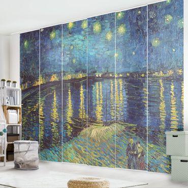 Tende scorrevoli set - Vincent Van Gogh - Notte stellata sul Rodano - 6 Pannelli